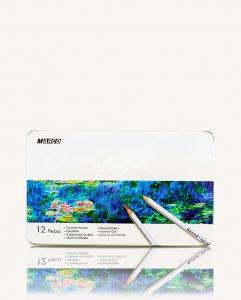 Карандаши цветные 12 шт в металлической упаковке MARCO 7100-12TN