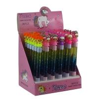 Ручка гелевая синяя Кукла LOL вода-блестки 9-18 (21375)