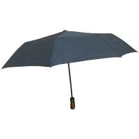Зонт мужской Черный полуавтомат  9-253 (10606)