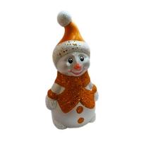 Новогодняя фигура Снеговик 29*15см пластик