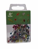 Булавки цветные в пласт контейнере (8-67) (18-276) 9-166(24806)