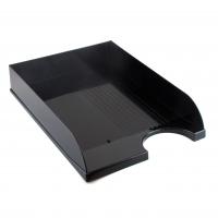 Лоток горизонтальный черный пластик ЛГ-04