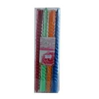 Свечка спираль цветная 30см цена за 1шт 50647