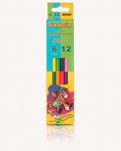 Карандаши цветные 6шт 12цв двухсторонние Marco 1011-6CB