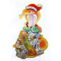 Наклейка новогодняя Змея маленькая S18-7
