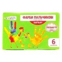 Краски пальчиковые 6цв перламутр 240мл Graft&Joy 322075Cr