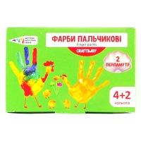 Краски пальчиковые 4+2цв перламутр 240мл Graft&Joy 322076Cr