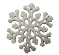 Новогодняя подвеска Снежинка 9см пластик в наборе 2шт 91225-PN