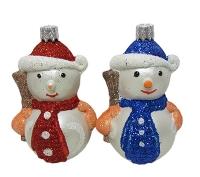 Новогодняя игрушка Снеговик 9см пластик