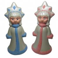 Новогодняя фигура Снегурочка 24*11см пластик
