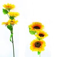 """Цветы искусственные """"Подсолнух средний 3 цветка """" 1-292 (0113)"""