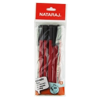 Набор шариковых ручек 5шт 0,7мм ассорти Nataraj Classic Fine 206499010