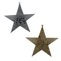Новогодняя подвеска Звезда 50см золото,серебро 5-199 (6521)