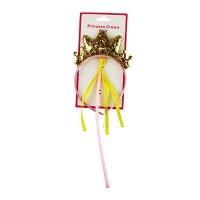 Обруч Корона принцессы с палочкой блестки 5-226 (1452)