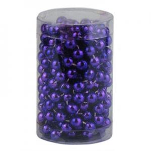 Бусы на елку 10 мм фиолетовые 3,4м в тубусе 92206-PN