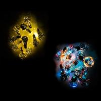 Гирлянда электрическая цветная Лампочка 10шт золото 5-253 (6366)