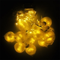 Гирлянда электрическая цветная, желтая шар 138л 5-255 (6366)
