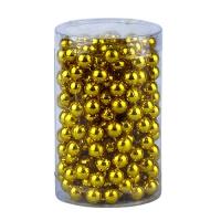 Бусы на елку 10 мм золото 3,4м в тубусе 91549-PN