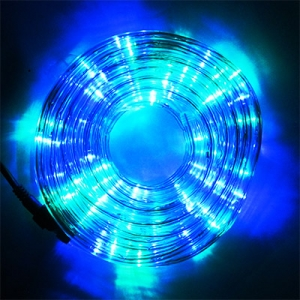 Гирлянда электрическая белая, цветная, красная 10м LED шланг 5-258 (6366)