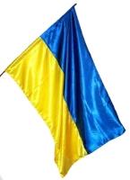 Флаг Украины (1,5х1,0м ) атлас. Звягинцев