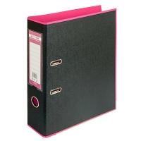Папка регистратор А4 Style 70мм розово-черная собранная BM.3005-10c