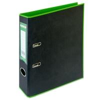 Папка регистратор А4 Style 50мм салатово-черная собранная BM.3006-15c