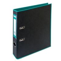 Папка регистратор А4 Style 50мм бирюзова-черная собранная BM.3006-06c
