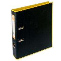 Папка регистратор А4 Style 50мм желта-черная собранная BM.3006-08c