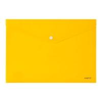 Папка на кнопке А4 Axent желтая непрозрачная 1412-26-А
