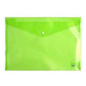 Папка на кнопке А4 зеленая 1402-25-А Без бренда