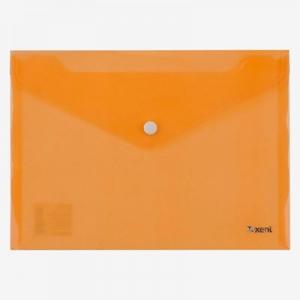 Папка на кнопке А4 оранжевая 1402-26-А