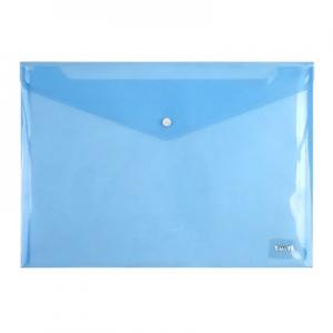 Папка на кнопке А4 синяя 1402-22-А