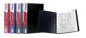 Папка А4 с 60 файлами бордо 1060-04-А