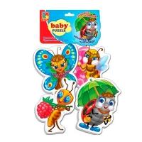 Пазлы Baby puzzle Забавные насекомые VT1106-06 Дом книги