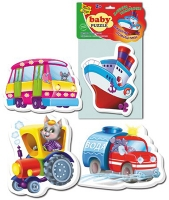 Пазлы Baby puzzle Машины-помощники VT1106-08 Дом книги