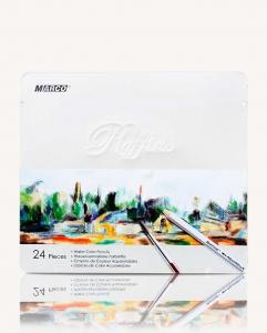 Карандаши цветные 24шт в металлической упаковке MARCO 7120-24TN