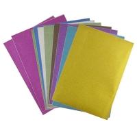 Бумага цветная А4 10л глиттер самоклейка 9-77 (22224)