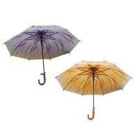 Зонтик-трость детский со свистком матовая клеенка Цветы 9-256 (10606)