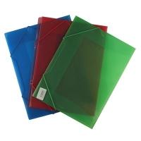 Папка на резинке А4 цветная прозрачная 10-583 (23584)