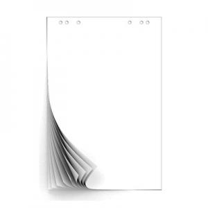 Блок для флипчарту 10л Fresh up 640*900мм белый 70г/м2 проклееный в пакете FR-10L