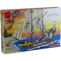 """Конструктор """"Brick"""" 307 (298782) """"Пиратский корабль"""" (18шт/2) 590дет.,в разобр. кор. 48*32*7см"""