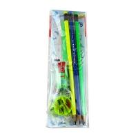 Набор карандашей чернографитных Nataraj Neon HB заостренный 3 шт с ластиком и точилкой 201158013