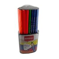 Карандаш чернографитный Nataraj Neon HB заостренный 5 цветов 72шт  201013004