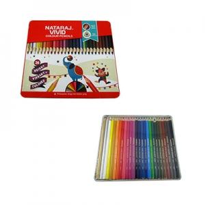 Карандаши цветные 26шт круглые Nataraj Vivid Premium 201256011