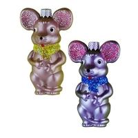 Новогодняя игрушка Крыса 10см краска маленькая пластик