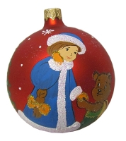 Стеклянный шар d90мм Снегурочка 90473 Полимер