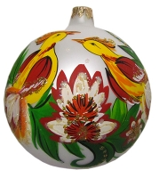 Стеклянный шар d100мм Украинский рисунок 100815 Полимер
