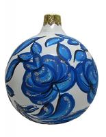 Стеклянный шар d80мм Цветы Украины 80812 Полимер