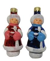 """Новогодняя игрушка формовая стекло 9,5см """"Колядничок"""" 1173/1073"""