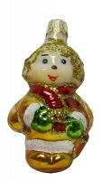 """Новогодняя игрушка формовая стекло 8см """"Пчелка"""" 1125"""